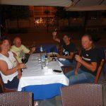 wo mit Karin anständig die gelungene Radtour und der 60er von Radlwolf gefeiert wurde