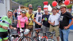 auch Junioren Straßenweltmeister 2015 Felix Gall (Sunweb) und seine Mama Petra waren unter den Zuschauern