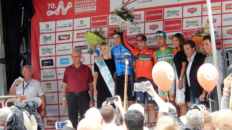 die ersten drei Giovanni Visconti (ITA), Wout van Aert (BEL) und Michael Bresciani (ITA).