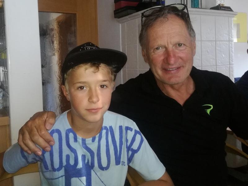 Moritz freut sich Franz kennengelernt zu haben, war sein Opa ja Konditionstrainer von Franz Klammer