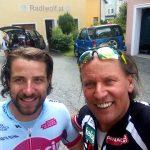 Radlwolf freut sich über die wunderschöne Radausfahrt mit Marco Haller