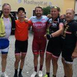 Franz, Michi, Marco, Radlwolf und Kurt nach der gelungenen Tour