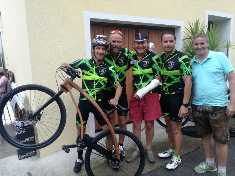Michi Kurz, Biathlet Daniel Mesotitsch, Traiathlon Präsident Cristian Tammegger Radlwolf und Lifestyle-Bike Produzent Steff Ortner
