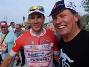 "Radlwolf gratuliert Davide Ballerini zum Sieg beim ""MEMORIAL Marco Pantani"" am folgenden Tag gewann Davide Ballerini auch die ""Trofeo Matteotti"" in Pescara"