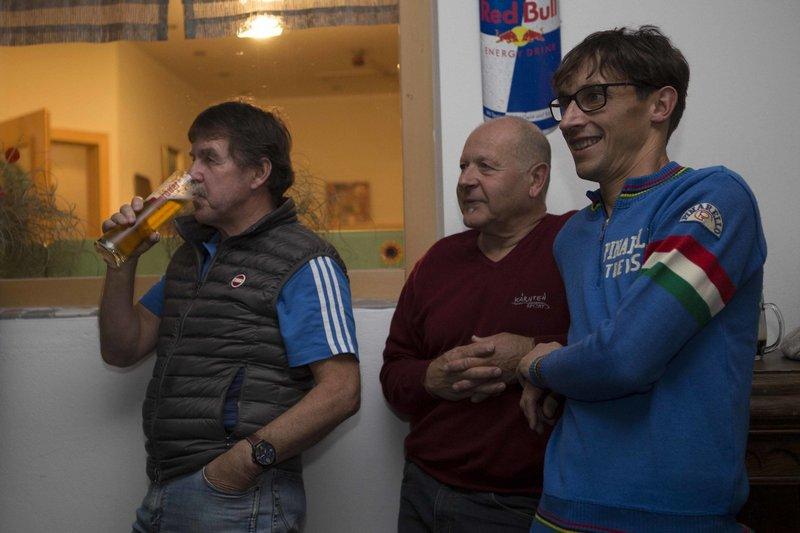 Radl Urgestein Ossi Jochum, Trainingspartner Kurt Strobl und Michi Kurz Foto: ©Andreas Lutche