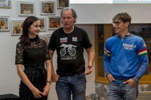 Lea, Radlwolf und Michi freuen sich über die gelungene Premiere Foto: ©Andreas Lutche