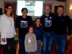 v.l. Astrid Kubin, Michi Kurz, Carmen und Lorena, Radlwolf und Gerald Kubin