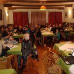 """Große Begeisterung und großes Publikumsinteresse herrschte bei der Filmvorführung von """"CICLOVIA ALPE ADRIA"""" in St. Lorenzen"""