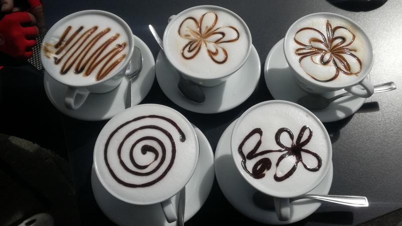 und einen köstlichen Cappuccino