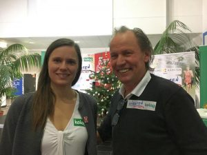 Österreichs bzw. Kärntens Sportlerin des Jahres, Weltmeisterin Vanessa Herzog mit Paralympic-Silbermedaillengewinner Wolfgang Dabernig