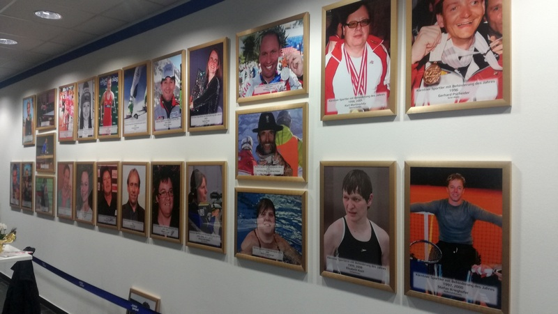 Ehrengalerie der Kärntner Behindertensporter im Sportpark Klagenfurt