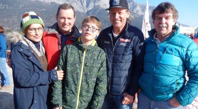 Radlwolf besucht die Special Olympics  in Villach