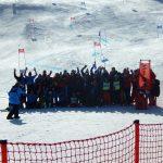 Abschlussfoto der Schibewerbe beim Skilift Hrast in Feistritz/Gail & Hohenthurn