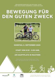 """Plakat für """"6. Radeln, Laufen und Wandern für den guten Zweck"""""""