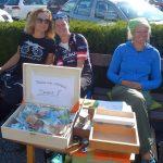 Danke Karin Gepäcktransport und Zieleinlauf, Motz und Sabrina Startabwicklung