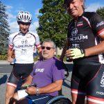 Michi, Peter bewältigte die Strecke auch mit seinem Handbike und Radlwolf