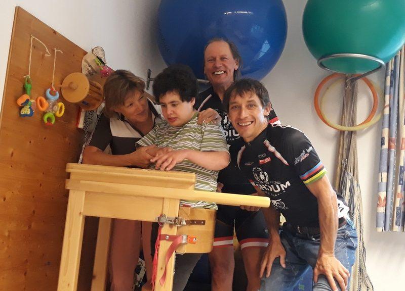 v.l. Gerda mit Katharina Nischer, Radlwplf und Michael Kurz