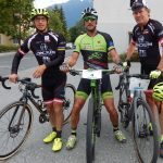 Michi Kurz und Radlwolf mit Wolfgang Steiner aus Debant, er legte mit 32 Minuten ohne Motor eine Rekordzeit hin, Foto: © Karin Franz